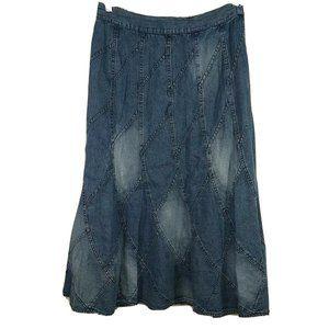 Studio West Denim Jean A-line Skirt Women Size M